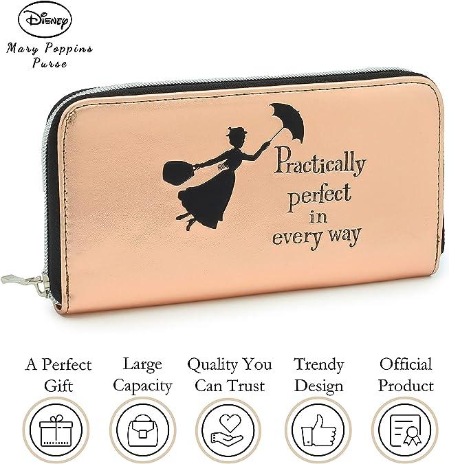 Black Authentic New Birthday Gift Disney Tinkerbell Teen Girls Tri-Fold Wallet