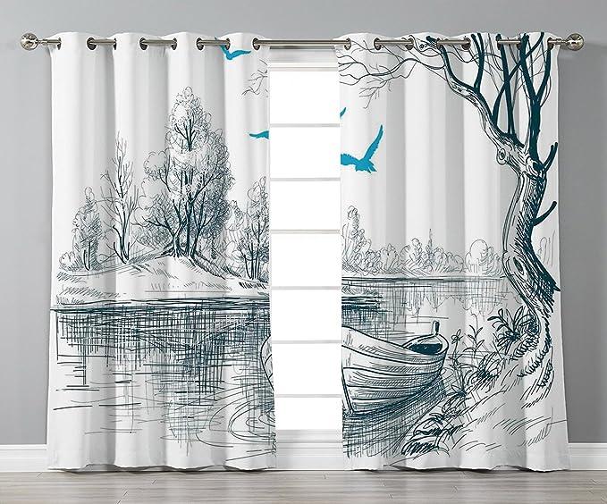 iprint Cortinas opacas térmicas para ventana, decoraciones ...
