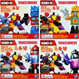 Kre-O Transformers Brick Box Kreon Micro Changers 4 Pack Bundle includes: Optimus Prime, Bumblebee, Cliffjumper, & Barricade Brick Boxes (1 of Each)