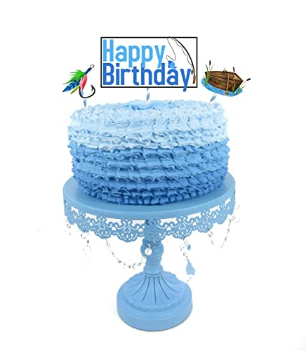 Fishing Party Cake Topper 3 Piece Set