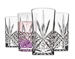 Godinger Tall Highball Glasses, Shatterproof and Reusable Acrylic - Dublin Collection, Set of 4
