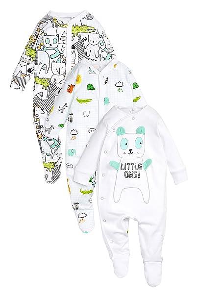 next Bebé-Niños Pack De Tres Pijamas Tipo Pelele con Personajes (0 Meses -