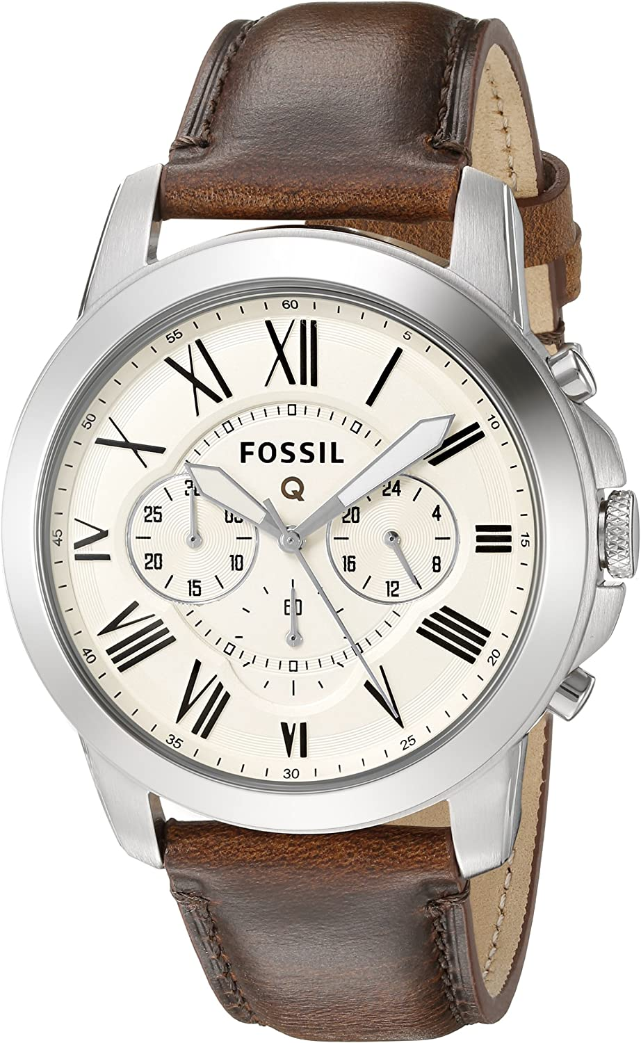 Amazon.com: Fossil Q Grant Gen 1 Hybrid Brown Leather ...