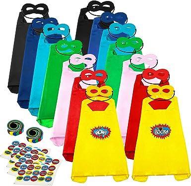 DIY Children Capes for Birthday ADJOY Superhero Capes and Masks for Kids Bulk