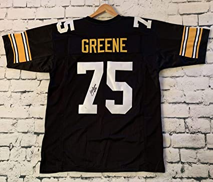 d35f6e5ce Image Unavailable. Image not available for. Color   Mean  Joe Greene Signed  Autographed Pittsburgh Steelers Pro Style Football Jersey - JSA COA