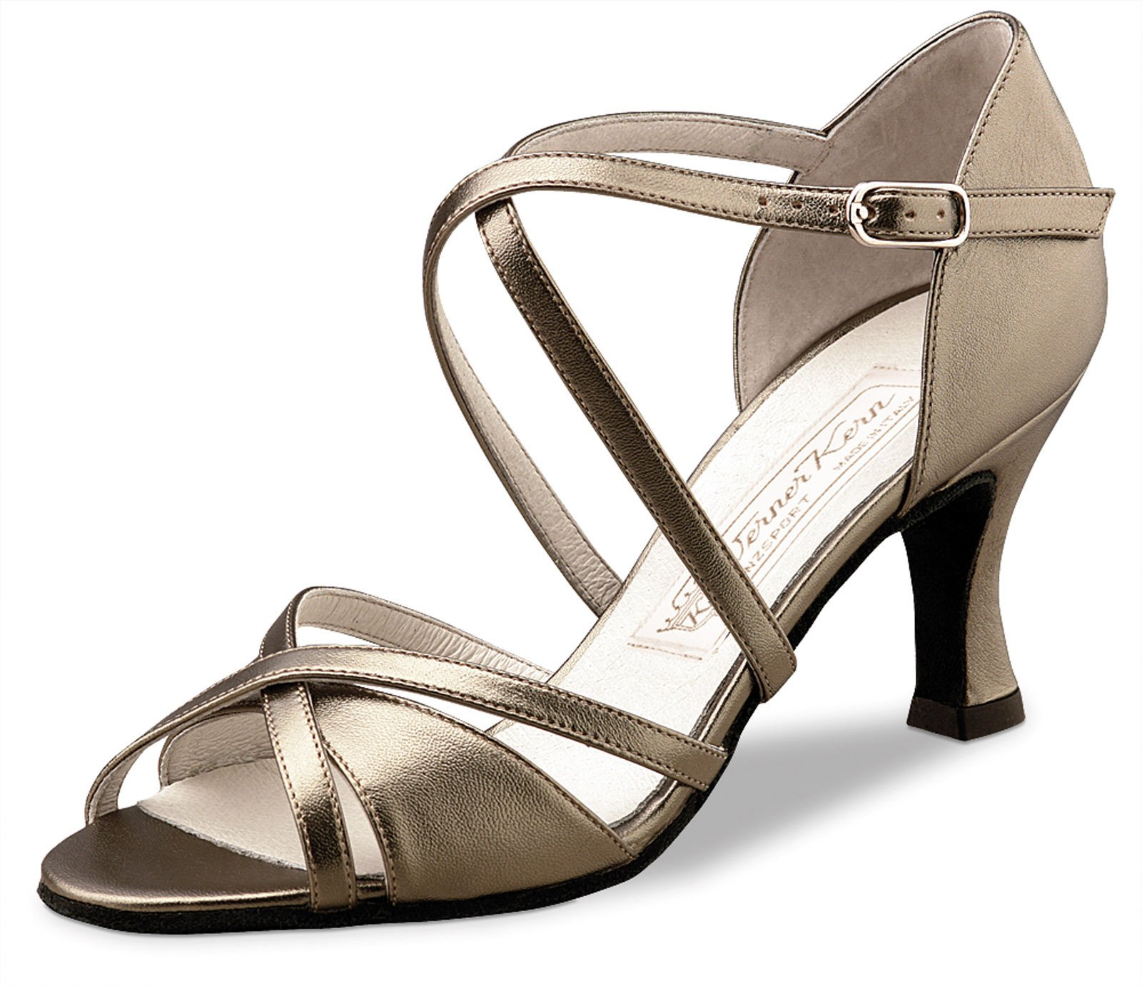 Werner Kern Women's July - 2 3/4'' (6.5 cm) Flare Heel, Chevro Antik, 8.5 M US (5.5 UK)