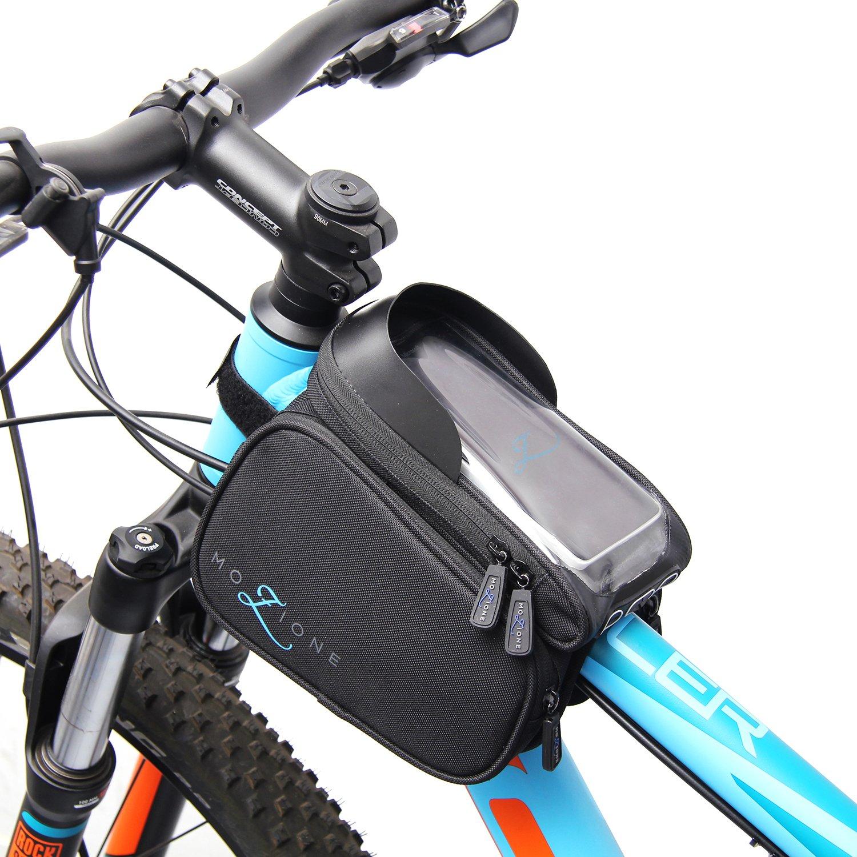 MOZIONE Premium Fahrrad-Rahmentasche Moar Speed Schwarz 1,2L ...