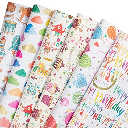 Amazon Com Ruspepa Gift Wrapping Paper Sheets Cute Design For