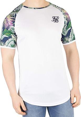 Sik Silk de los Hombres Camiseta con bajo raglán y Curva de Jeremy Vine, Blanco: Amazon.es: Ropa y accesorios