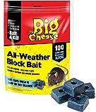 The Big Cheese Lot de 100 appâts souricides raticides en blocs