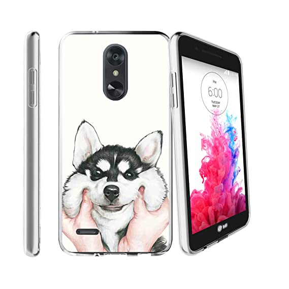 Clear MINITURTLE Case Compatible with LG Rebel 3 / Aristo 2 / Zone 4 /  Tribute Dynasty (X210)[Flex Force Cute Pet Series][Clear & Flexible Gel  Case