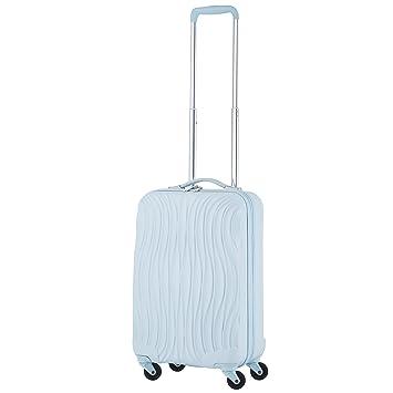 CarryOn Wave Maleta de mano 55cm - con puerto USB Equipaje de Mano - 4 ruedas - azul: Amazon.es: Equipaje