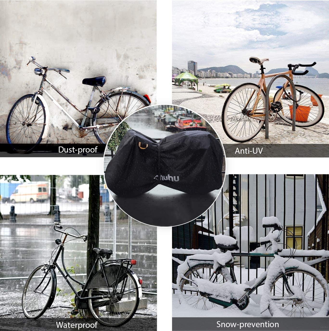 Super Amos Cubrezapatos T/érmico Impermeable A Prueba de Viento Chanclos Protector MTB Bicicleta de Monta/ña