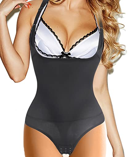 e2ad8f7747 Medium Black Gotoly Curves Shapers Adjustable Straps Body Shaper Waist  Cincher Comfy Tank Top  Amazon.in  Health   Personal Care