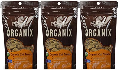 Amazoncom Castor Pollux Organix Organic Cat Treats Pack of 3