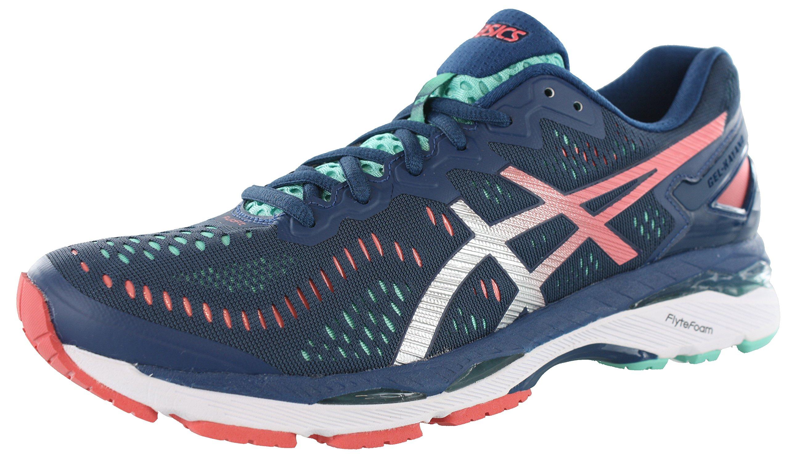 ASICS Women's Gel-Kayano 23 Running Shoe, Poseidon/Silver/Cockatoo, 9 M US