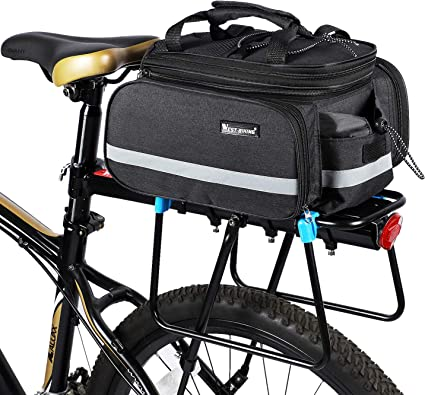 Waterproof Bike Bicycle Rear Rack Trunk Bag,Touring,Shopping Panniers,Pack,Tour