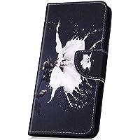 JAWSEU Flip Wallet PU Lederen Hoesje Compatibel met Motorola Moto X4 Bloem-1