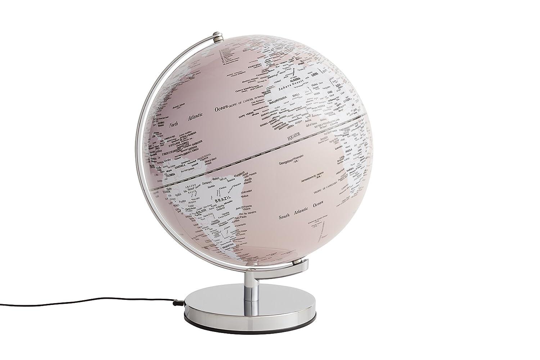 emform Tischglobus Terra Physical No2 Light 250 x 320 mm beleuchtet Metall /& Kunststoff
