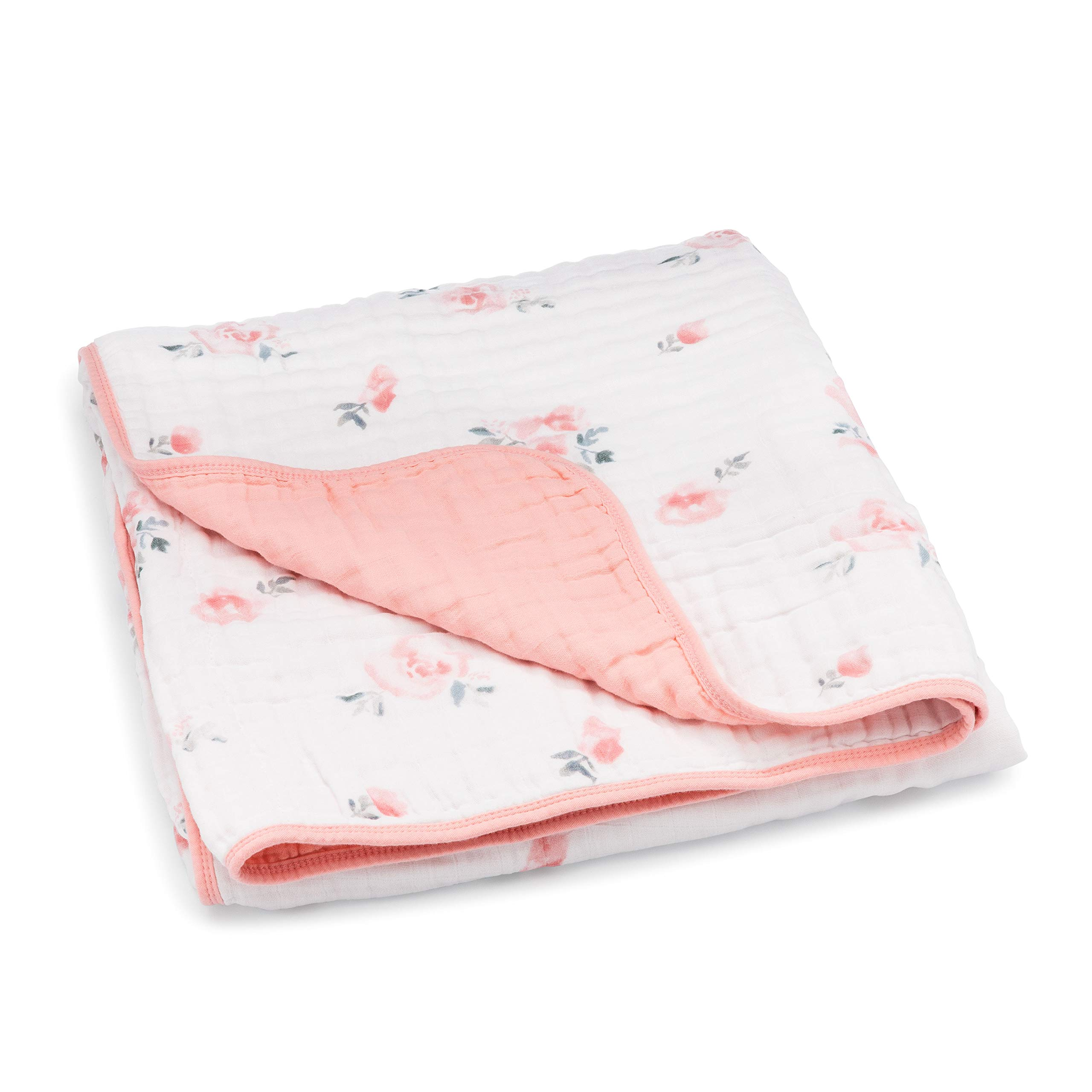 Parker Baby Muslin Blanket - 100% Soft Cotton Baby Quilt and Kids Blanket for Girls -''Dreamy Floral'' by Parker Baby Co.