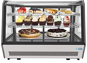 "KoolMore 35"" NSF Commercial Countertop Refrigerator Display Case Merchandiser with LED Lighting - 5.6 cu. ft"
