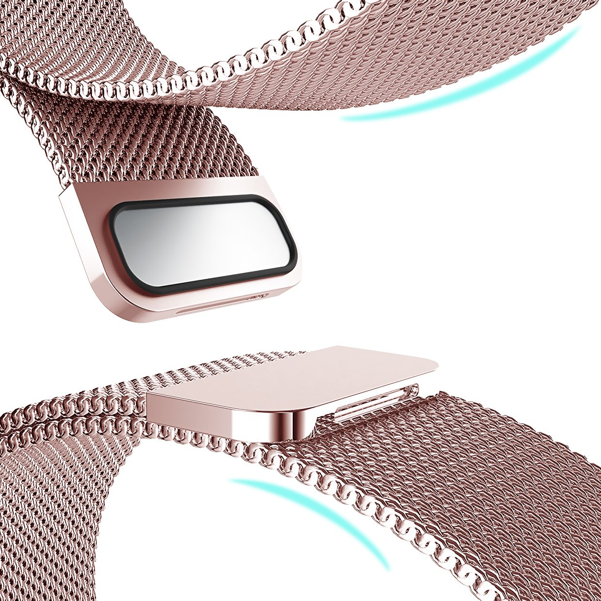 Amazon.com: Milanese Loop 38mm, SUNKONG For Apple Watch Band Stainless  Steel Milanese Mesh Loop Replacement for Apple Watch Series 1/2/3 And All  Models, ...