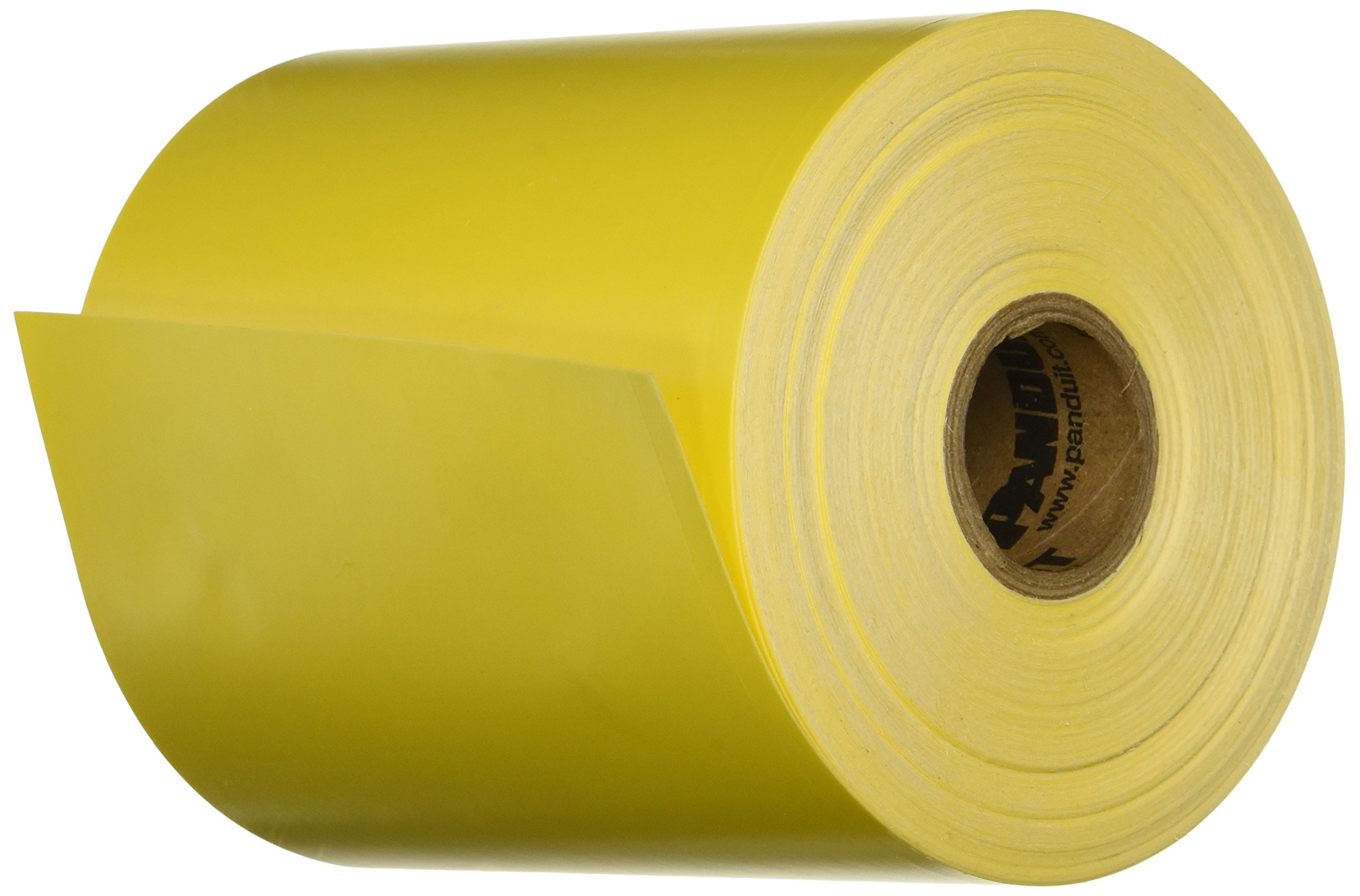 Panduit T400X000VX1Y Thermal Transfer Continuous Tape, Vinyl, 100-Foot by 4.00-Inch, Yellow