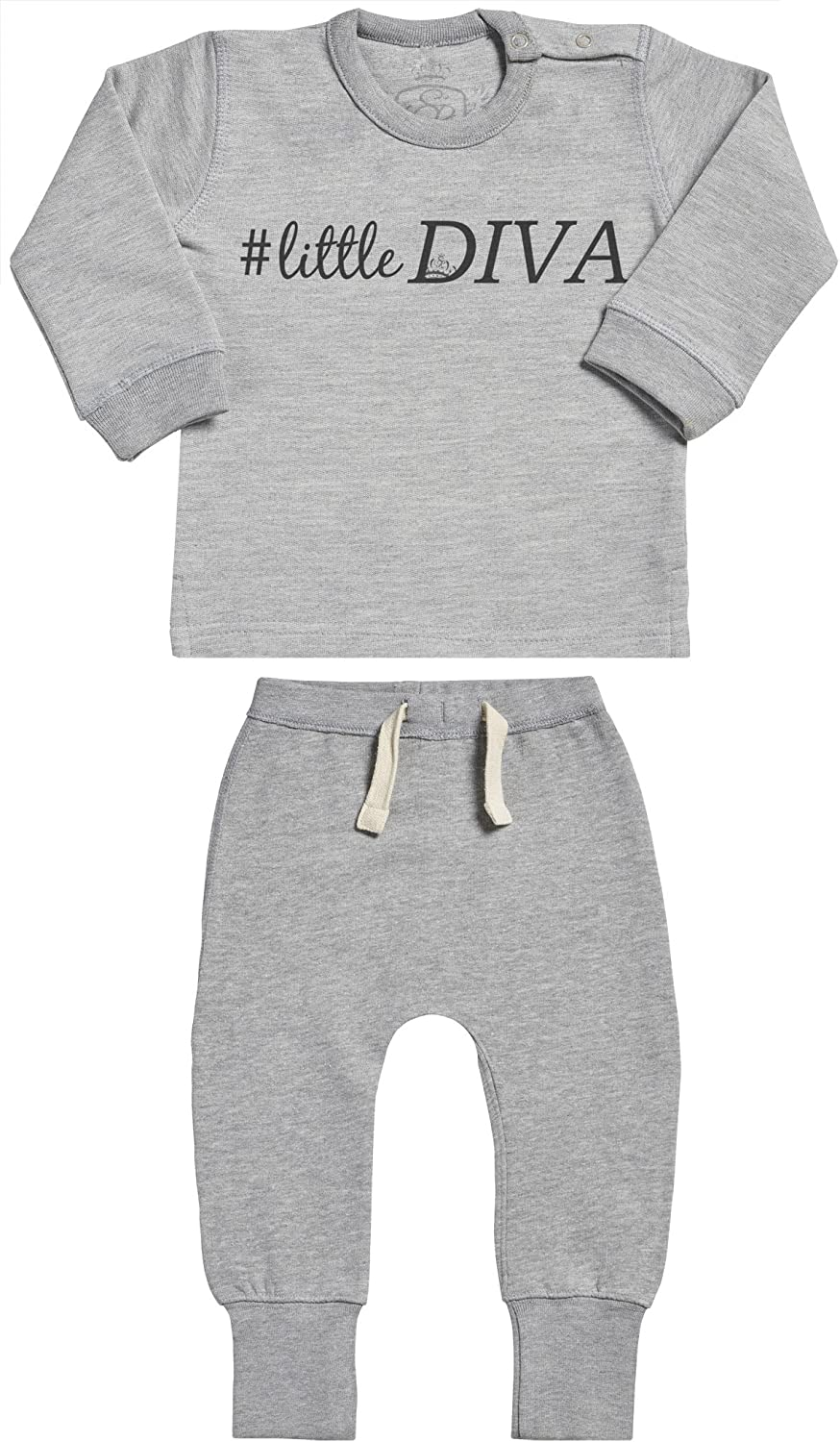 SR Baby Clothing Outfit Hashtag Little Diva Baby Outfit Baby Gift Set Baby Sweater /& Baby Joggers