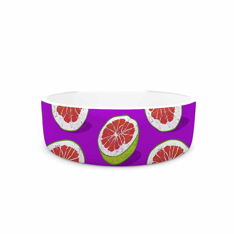 7\ KESS InHouse Evgenia Pomelo  Purple Red Pet Bowl, 7