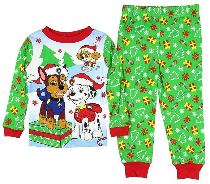 Paw Patrol Christmas Holiday Toddler Pajamas  Amazon.ca  Clothing ... 21d5cd2c2