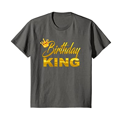 Teen Birthday Shirts For Boy King Golden Imitation