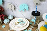 Blue Elephant Garland Baby Shower Decorations