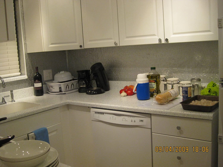 Amazon Tin Silver Plastic Kitchen Backsplash Wc 20 Wall