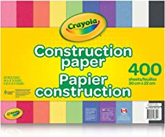 Crayola 400 Pages Construction Paper Pad, School and Craft Supplies, Teacher and Classroom Supplies, Gift for Boys and...