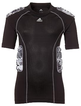 Adidas Youth Acolchado Techfit Camuflaje Camiseta de fútbol, Unisex, Negro