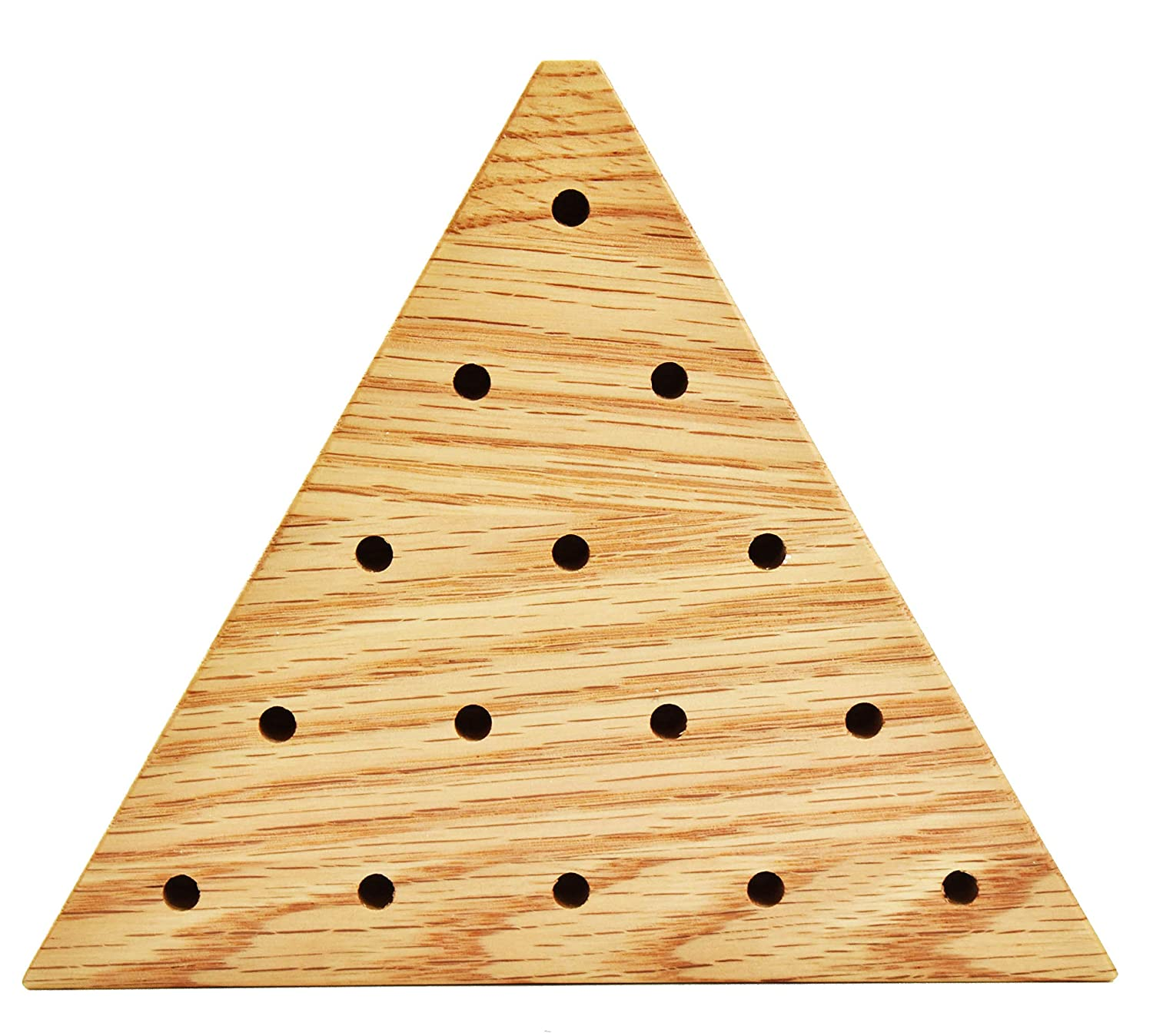 Solid Oak Wooden Peg Game Tricky Triangle by Cauff