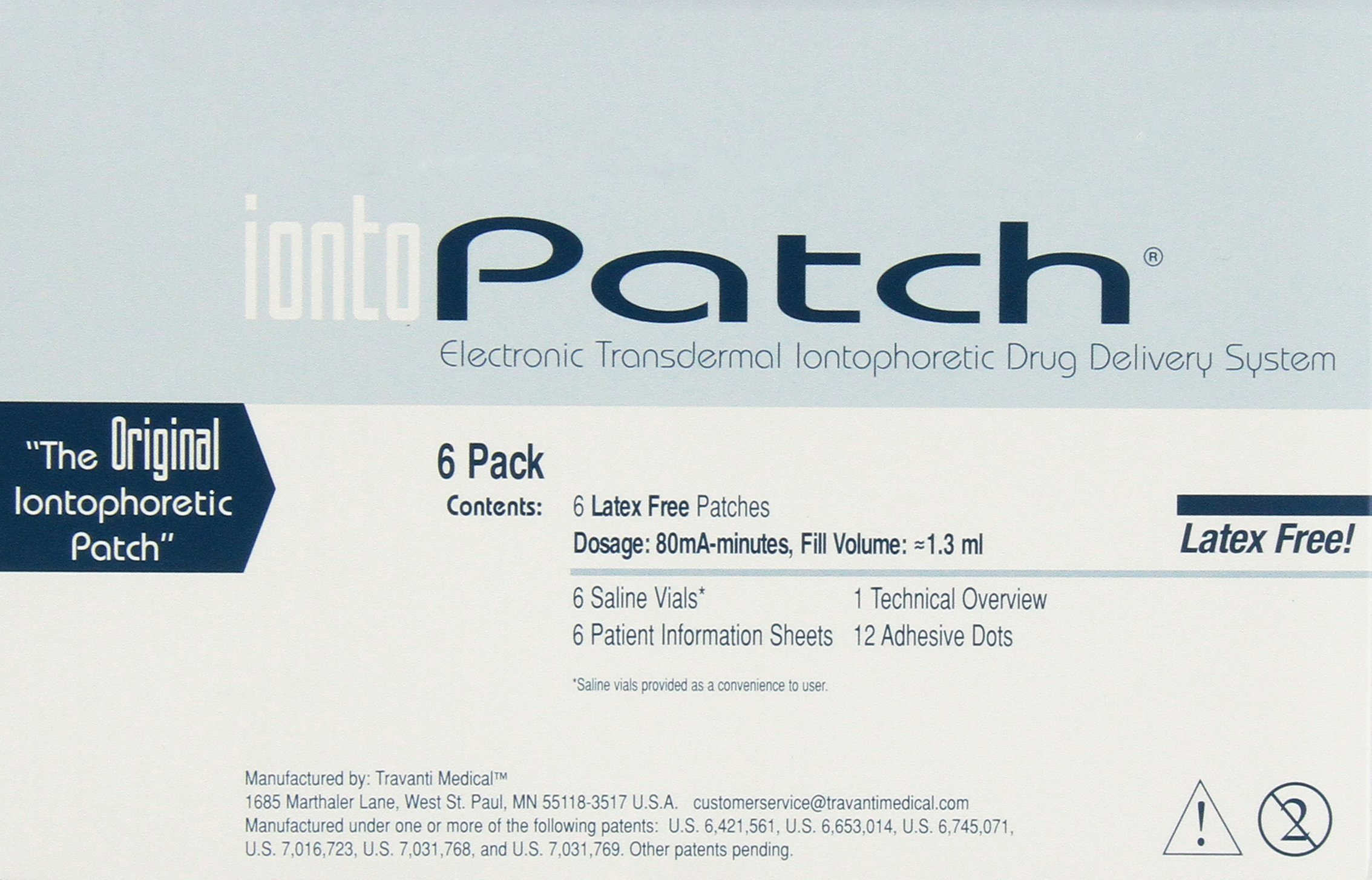 IontoPatch 80 Iontophoresis Delivery System, 6 Kit/Box