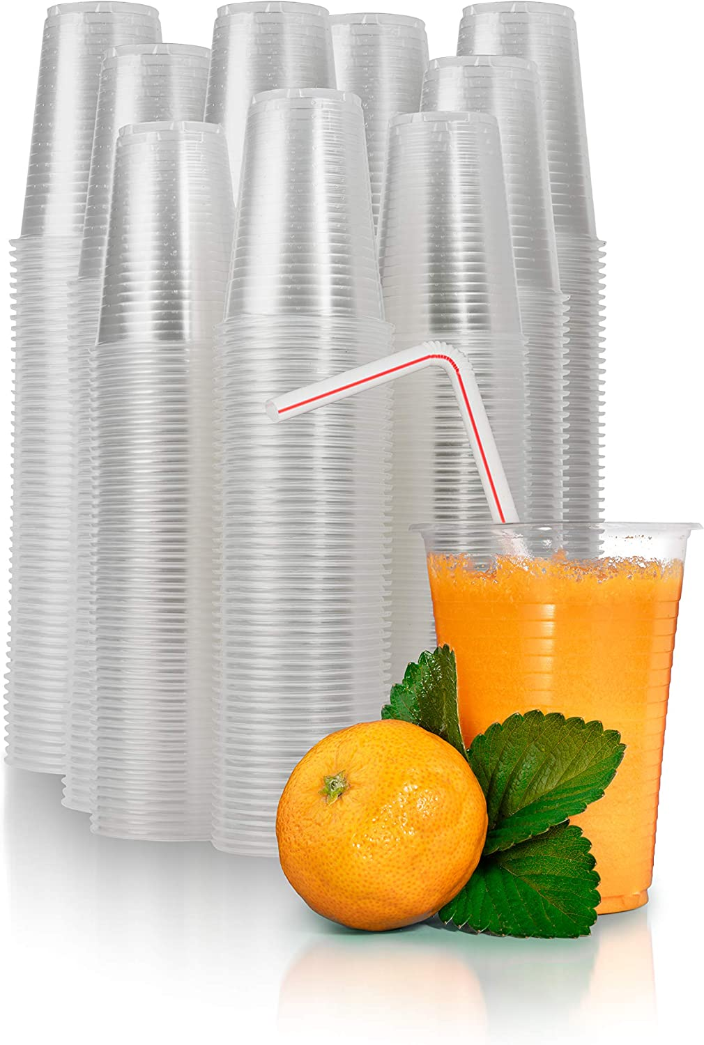 Catergoods 700 Count Bulk Pack - 7 oz Clear Plastic Cups - Transparent Plastic Disposable Cups Multi Use Cold Beverage Plastic Clear Cups for Home ~ Office ~ Parties And More