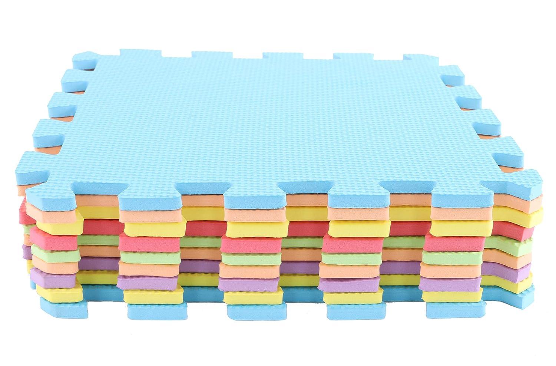 Toyland/® Tapis de Jeu en Mousse Multicolore pour carrelage ext/érieur 9 pi/èces Amusement int/érieur