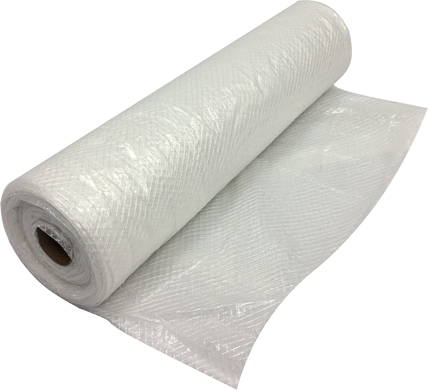 Thesafetyhouse Plastic String Reinforced Poly Sheeting 20 Feet X 100 Feet 6 Mil Nominal Transparent White Durable Top Quality Visqueen Amazon Com