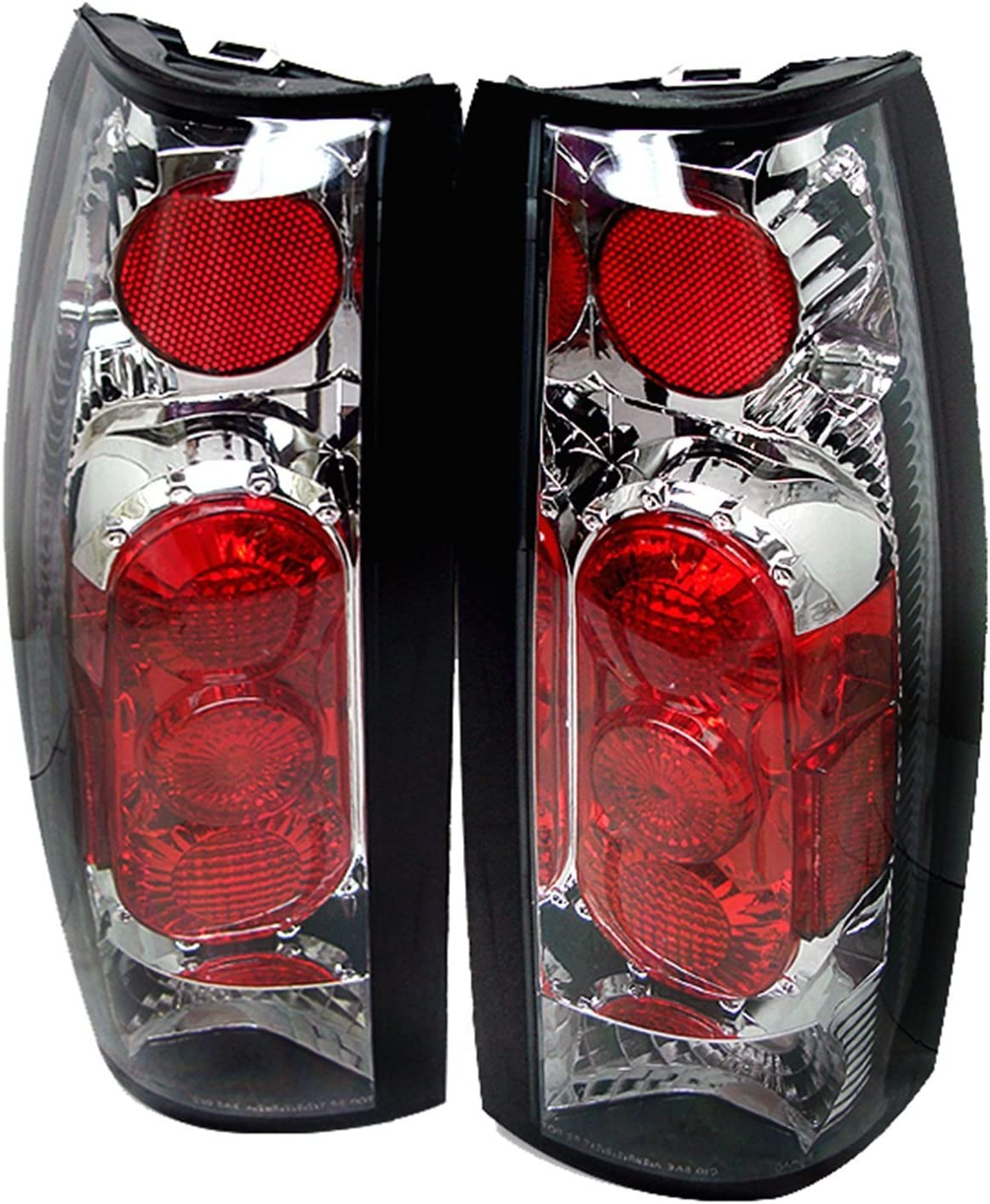 Chrome Clear Xcdiscount Euro Style Tail Light for Chevy C K 1500 2500 3500 88-98