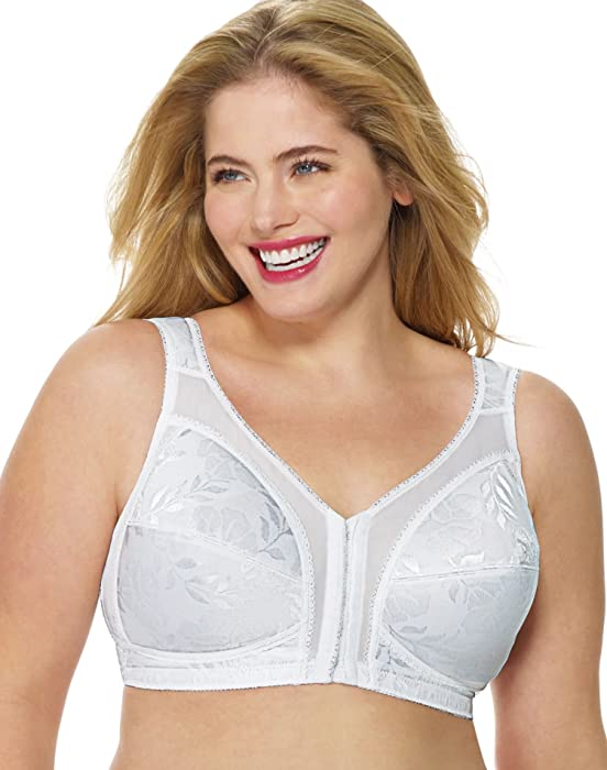 048aebc93 Playtex 4695 Playtex 18 Hour Easier On Front Close Wirefree Bra with Flex  Back