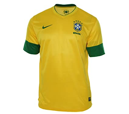 e85a57c08f5 Brazil 12 13 Home Football Shirt Varsity Maize  Amazon.co.uk  Clothing
