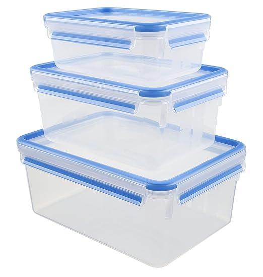 170 opinioni per Emsa Clip & Close 508567 Set 3 contenitori salva freschezza da 1 l, 2,3 l e 3,7