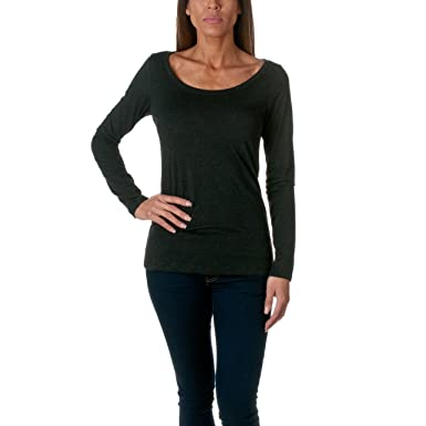 94f11efc54ee Next Level Apparel Women's Tri-Blend Long Sleeve Scoop Neck Tee at Amazon  Women's Clothing store: