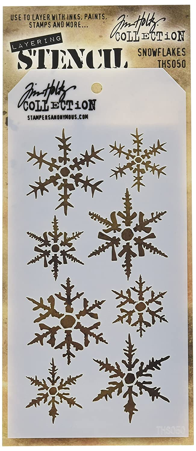 Stampers Anonymous Tim Holtz Layered Stencil, 4.125 by 8.5, Snowflakes 4.125 by 8.5 THS-050