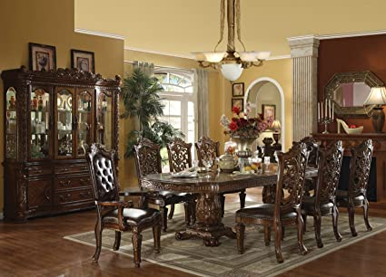 Acme Vendome Cherry Finish 9 Pc Dining Table Set