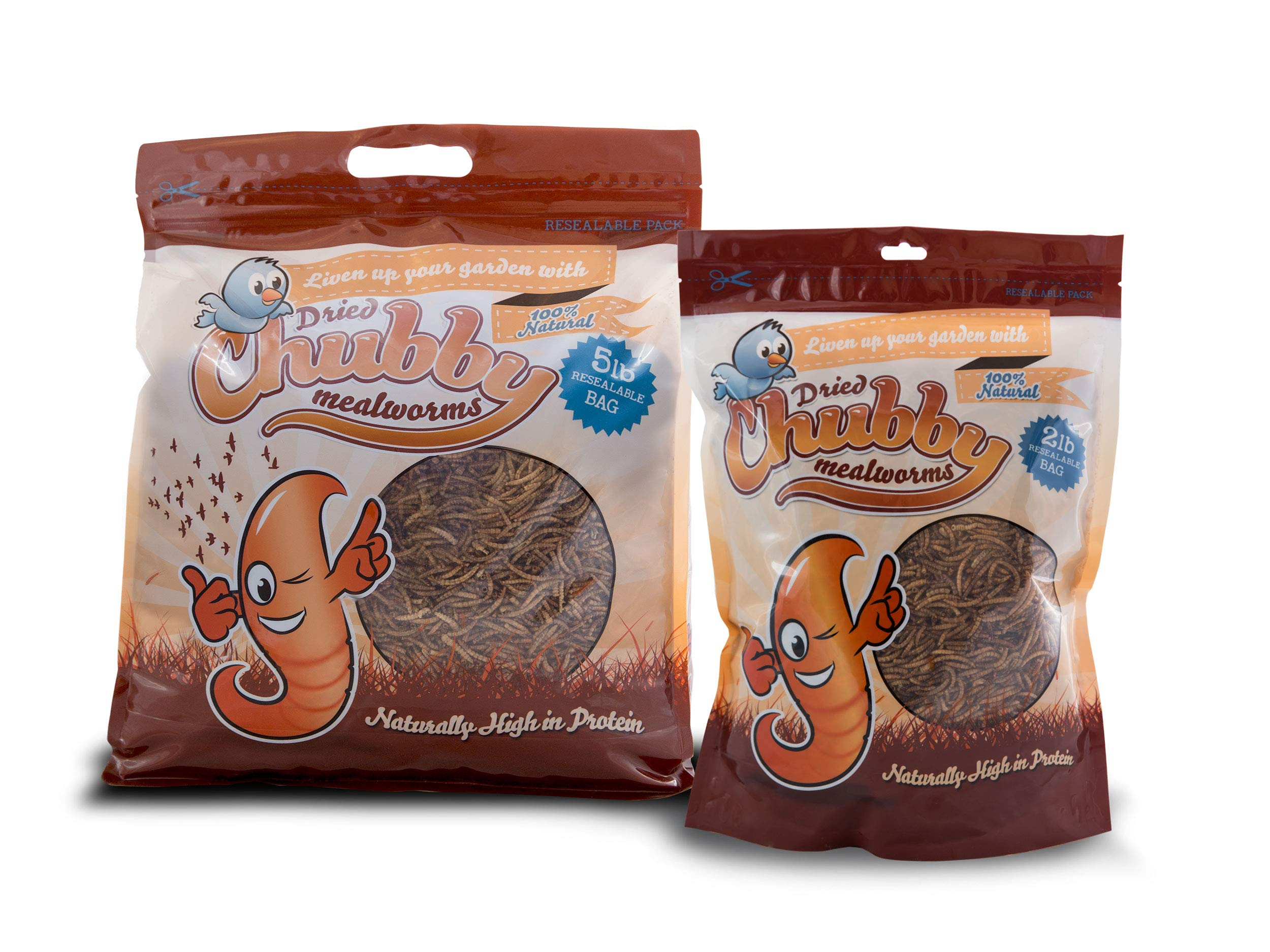 Chubby Mealworms Bulk Dried Mealworms for Wild Birds, Chickens etc. (10Lbs)