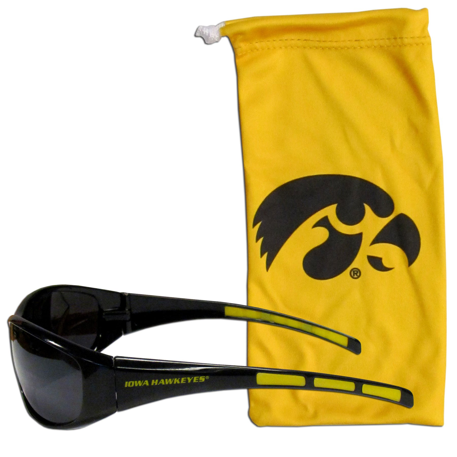 Siskiyou NCAA Iowa Hawkeyes Adult Sunglass and Bag Set, Yellow