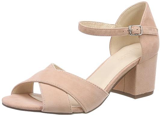 Womens Glitter 20-49387 Platform Sandals Bianco hZjnrxk3DR